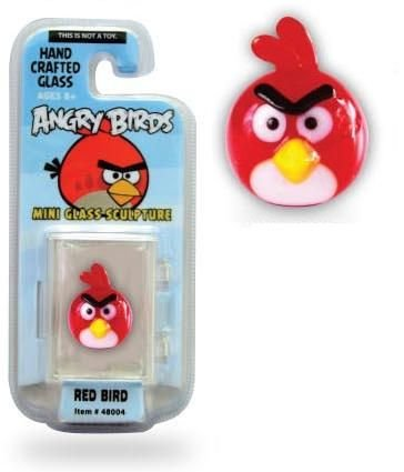 Angry Birds 1 Inch Glass Mini Figure Limited Edition Red Bird Looking Glass