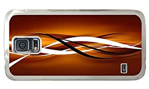 Hipster Samsung Galaxy S5 Case wholesale cases Waves Art PC Transparent for Samsung S5