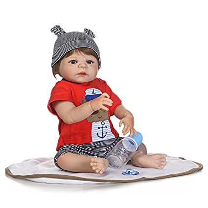 Amazon.com: iCradle Realistic Lifelike Baby Boy Toddler Toy 19 Inch ...