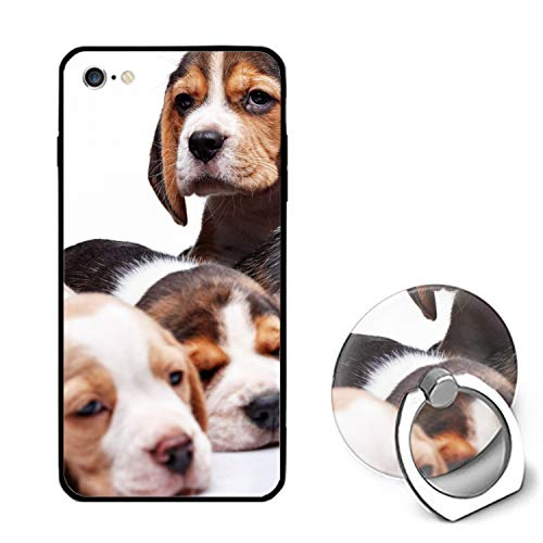 (Beagle Family iPhone 6S Case/iPhone 6 Case, Ultra Thin iPhone Case with Ring Stand Anti-Scratch Defender Case Compatible for iPhone)