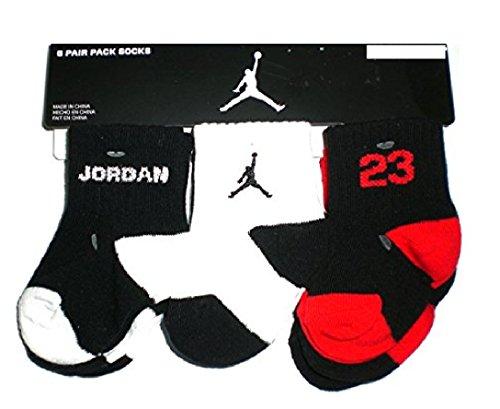 Nike Air Jordan Baby Boy's Socks, 6 PAIRS, Size 3C-7C Shoe//Sock 3-4.5