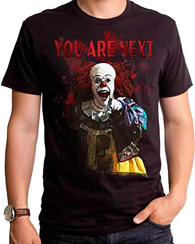 It Stephen King's The Movie Pennywise Clown You are Next T-Shirt (Large) Black