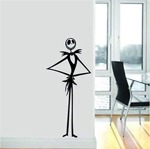 wuyyii Creative Decal Nightmare Before Christmas Vinyl Wall Art Decal Sticker Home Decor Pumpkin Skeleton -