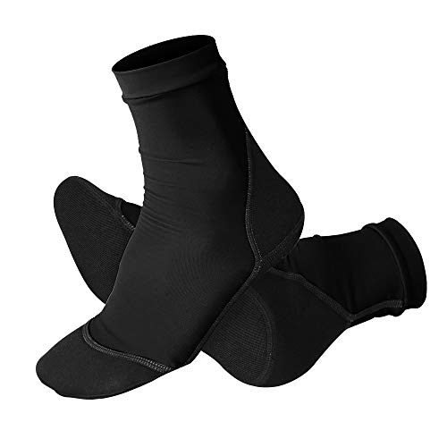 NeopSkin Beach Socks UV Sun Protection Lycra Sand Skin Water Booties Neoprene Fin Socks for Beach Volleyball Tennis Sand Soccer Kayaking Sailing Rafting Snorkeling Diving Swimming