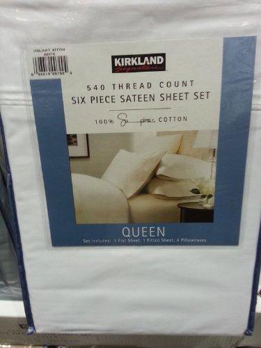 Kirklans Signature 100& Supima Cotton 540tc Qn 6pc Sheet