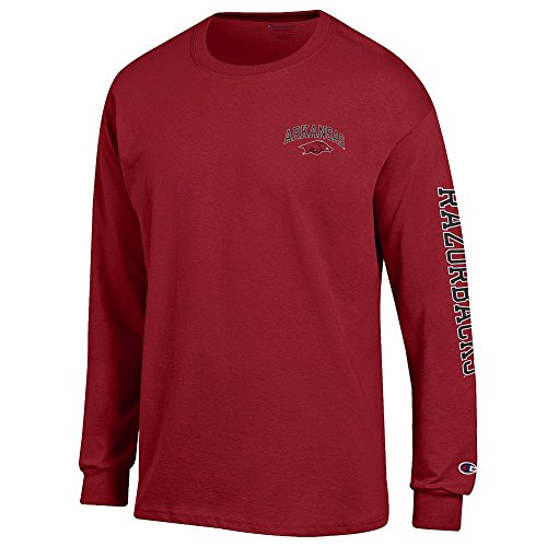 - Elite Fan Shop Arkansas Razorbacks Long Sleeve Tshirt Letterman Cardinal - L