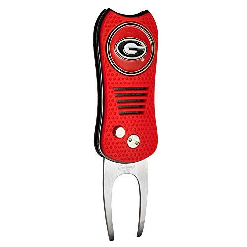 - Team Golf NCAA Georgia Bulldogs Switchblade Divot Tool with Double-Sided Magnetic Ball Marker, Features Patented Single Prong Design, Causes Less Damage to Greens, Switchblade Mechanism