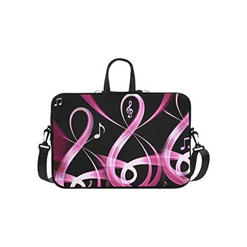 Free D Music Pink Notes Hd Wallpapers Download Pattern Briefcase Laptop Bag Messenger Shoulder Work Bag Crossbody Handbag for Business Travelling
