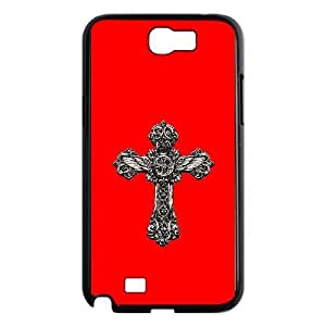 Fashionable Creative crucifix Cover case For Samsung Galaxy Note 2 N7100 MN7V92407