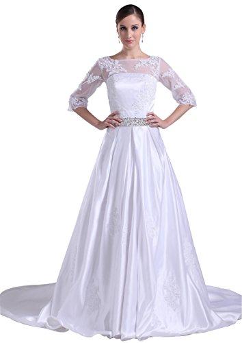 GEORGE BRIDE One Shoulder Satin Princeless Wedding Dress Size 18 White (Wedding Shoulder Dress Satin)