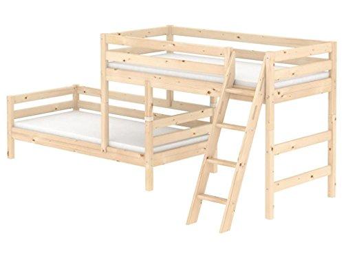 Flexa Kombi Etagenbett : Kombi etagenbett flexa classic cm mit schräger leiter