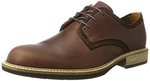 ECCO Men's Kenton Plain Toe Oxford, Mink/Mocha, 45 EU/11-11.5 M US Ecco Plain Toe Oxfords