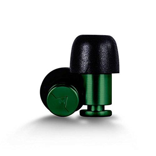 ISOLATE® - Revolutionäre Aerospace-Aluminium Gehörschutz/Ear Plugs/Ohr Schutz - Grün FLARE ISL-AL1-GRN