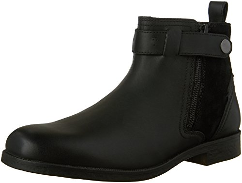 Clarks Mens Brocton Mid Black Leather