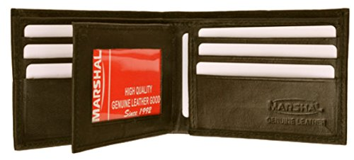 Mens Leather Wallet With Center Flap Bi Fold style - 1152 Center Flap