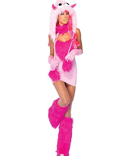 Pink Puff Monster Adult Costume - Medium/Large - Pink Puff Monster Costumes