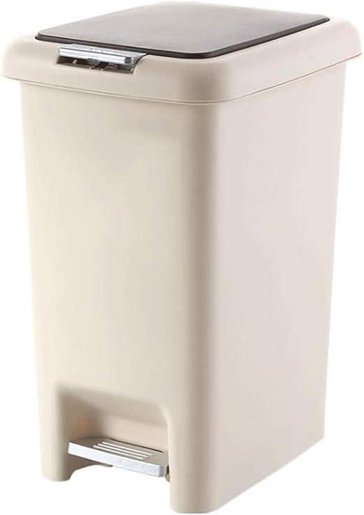 DASJZ-1 Pedal Interiores Papeleras Pedal Bin Papelera - plástico del Compartimiento de Polvo - for oficinas, hogar, Dormitorio, baño, Cocina, jardín, Polvo de Habitaciones (Size : 30L): Amazon.es: Hogar
