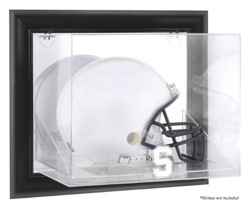 Stanford Cardinal Black Framed Logo Wall Mountable Helmet Display Case