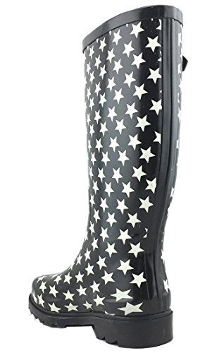 Welly Stars Print Women's Boots Colorful Cambridge Select Waterproof White Pattern Rain A7wqgS1F