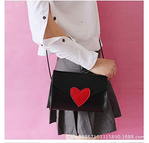 Seule la Chic black Fille Sacoche Mode carrés de Sac ZHANGJIA épaule vers Petits Aime Mini Sac fqw0zF7