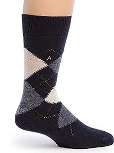 Warrior Alpaca Socks - Women's Argyle Premium Baby Alpaca Socks Blue Argyle M