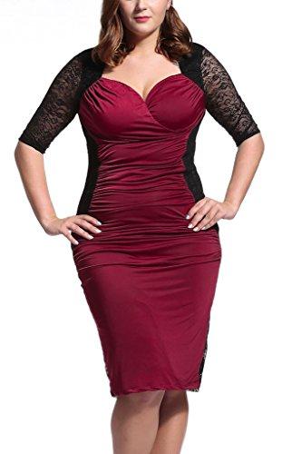 Dilanni-Womens-Plus-Size-Bodycon-Bandage-Dress-Cocktail-Evening-Party-Dress