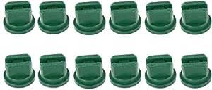 Pack of 12 - Hypro Lurmark E80-015 Even Flat Fan FanTip Spray Nozzle - 80°- 0.15 GPM - Green
