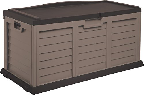 Starplast Deck Box with Sit-On Cover, 103 gallon, Mocha/Brown by Starplast