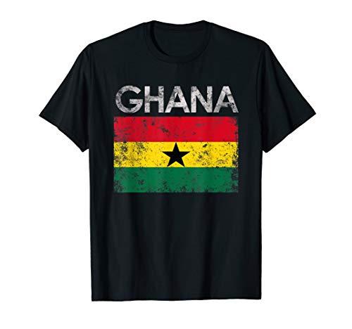Vintage Ghana Ghanaian Flag Pride Gift T-Shirt