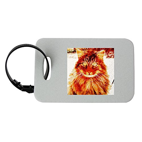 Clipart Barack the cat says Happy Birthday to zelda. luggage tag