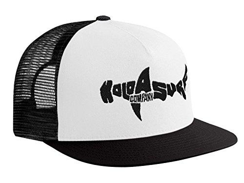 (Koloa Shark(tm) Mesh Back Trucker Hat in White with Black)