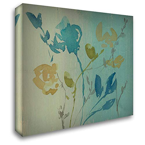 Spa and Sage Bouquet I 28x28 Gallery Wrapped Stretched Canvas Art by Goldberger, Jennifer