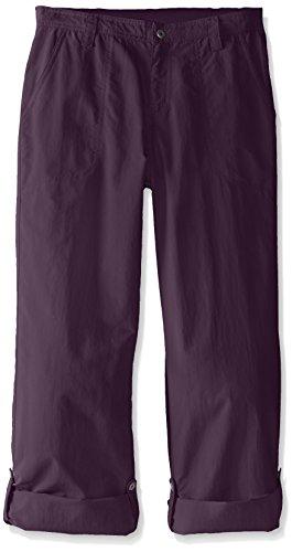 White Sierra Girl's Trail Roll-Up Pant, Shadow Purple, Medium