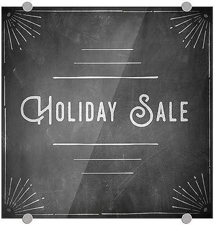 CGSignLab Holiday Sale Chalk Corner Premium Brushed Aluminum Sign 16x16 5-Pack