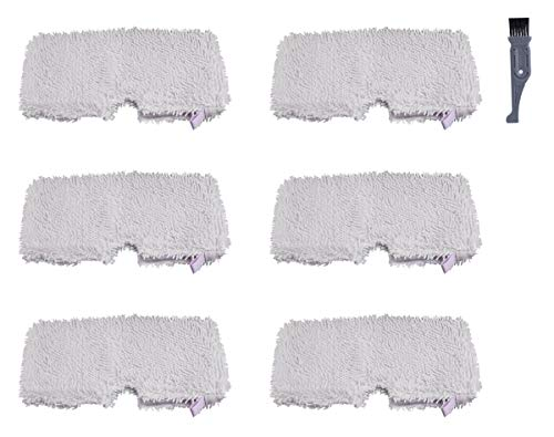 I clean Replacement Shark S3501 Steam Pocket Mops, 6 Pieces for Shark S3500 series 3601 S3550 S3901 S3801 SE450,Replacement Shark Lift Away Professional Steam Pocket Microfiber Mop Pads Cleaning - Steamer Pads Sharp