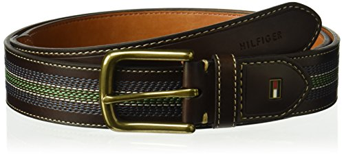Tommy Hilfiger Men's Tommy Hilfiger Casual Belt With Center Stripe Stitch - Belt Center