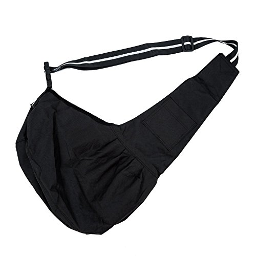TOOGOO (R) Carino Cinturino Imbracatura borsa Tote a monospalla per gatto cane cucciolo L - Nero