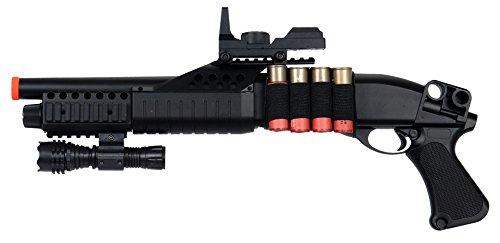 UKARMS Tactical RIS CQB Spring Airsoft Shotgun FPS 320 w/Accessories