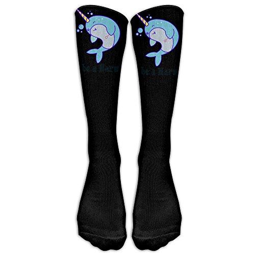 Men's Women's To Be A Kawaii Narwhal Athletic Socks Stockings Tube Socks