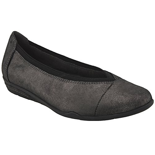 Earth Shoes Mara Pewter Distressed Leather xtrOnGg