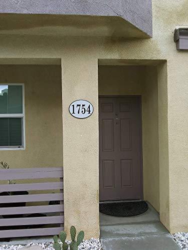 West Coast Curb-N-Sign Oval Reflective Address Plaque (White) by West Coast Curb-N-Sign (Image #1)