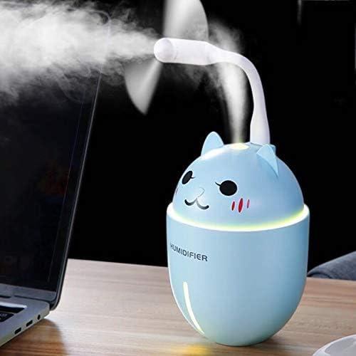 Monland 3 en 1 Lindo Gato Mascota Humidificador USB Dibujos Animados Oficina Dormitorio Coche Aire Atomizador Desinfectante