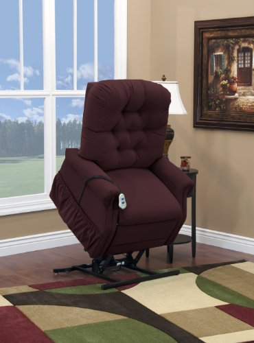 Petite Lift Chair (Medlift 1555P-AABE Aaron Petite Two-Way Reclining Lift Chair, Berry)