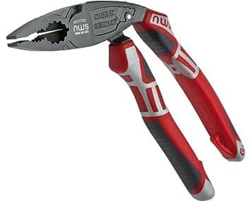 Nws 1096 - Alicate 1096 cabeza acodado multifunción rojo/gris: Amazon.es: Bricolaje y herramientas