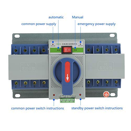 220V 63A Transfer Switch Mini Dual Electronic Power Automatic Circuit Breaker (4P)