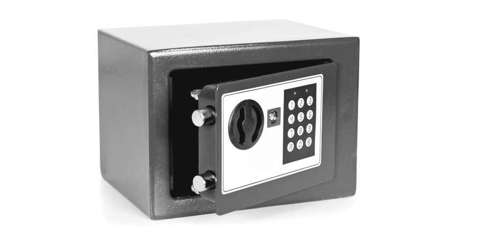 Bronzo Cassaforte con Combinazione Elettronica a Batteria Doppia Chiave di Sicurezza Fair