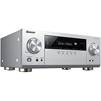 Pioneer VSX-933 S  7 2 Channel Receiver  Hifi Amplifier 135 Watt Channel  Multiroom  Wifi  Bluetooth  Streaming  Dolby Surround Dolby Atmos-DTS X  Music Apps  Spotify  Tidal  Deezer  Silver