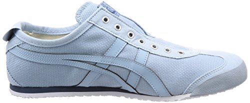 4444 smoke on Asics Mexico Light Adulto Onitsuka Zapatillas Tiger Azul Blue Slip Unisex 66 F1XFv