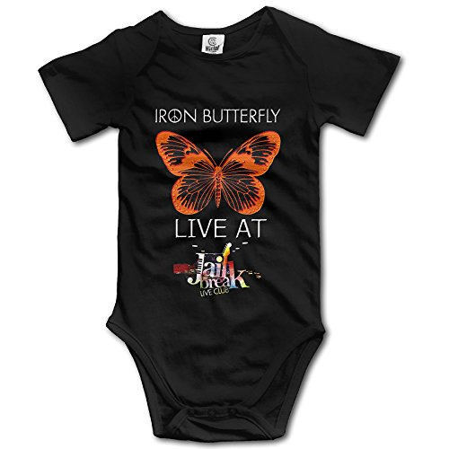 Black Baby Boys' Iron Butterfly Psychedelic Acid-Rock Logo Romper (Psychedelic Maxi Dress)