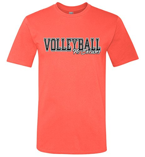 No Excuses - Volleyball Beauty T-Shirt - Hot Coral - Youth Large - Excuse Youth T-shirt